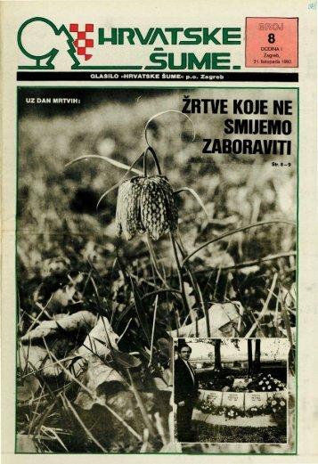 HRVATSKE ŠUME 8 (31.10.1992)
