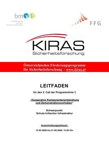 LEITFADEN - KIRAS Sicherheitsforschung