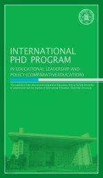教育领导与政策(比较教育学专业)国际博士研究生 ... - 留学北京师范大学