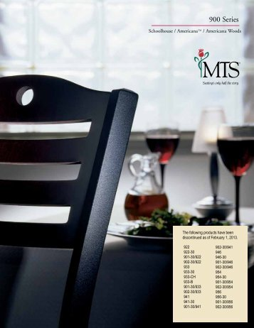 Series Brochure (PDF) - MTS Seating