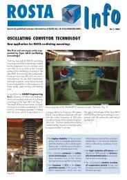 OSCILLATING CONVEYOR TECHNOLOGY - ROSTA Inc.