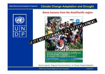 Climate Change Adaptation and Drought - United Nations ...