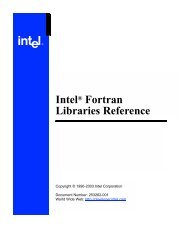 Intel® Fortran Libraries Reference