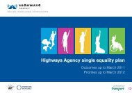 Highways Agency single equality plan - Amazon Web Services