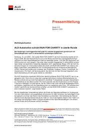 Pressemitteilung - bei der ALD Automotive