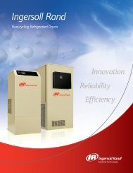 Non-cycling Refrigerated Dryers...Delivering - Ingersoll Rand