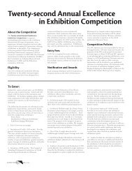 Twenty-second Annual Excellence in Exhibition Competition