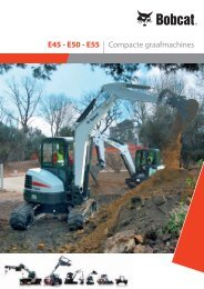 Brochure - Compacte graafmachines E45 - E50 - Bobcat.eu