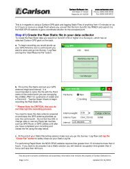 Step #1) Create the Raw Static file in your data ... - Carlson Software
