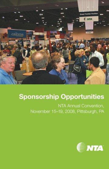 2008 Sponsorship Guide - NTA