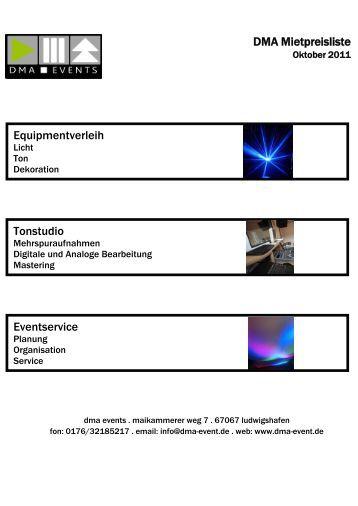 Tonequipment - DMA Events