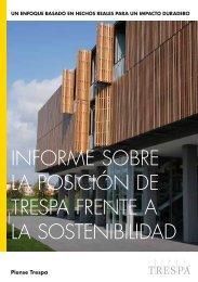 informe sobre la posición de trespa frente a la sostenibilidad