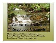 Geometric Scaling of Step-pool Channels - Balance Hydrologics