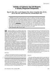 Validity of Substance Use Self-Reports in Dually ... - Seeking Safety