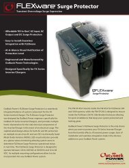 FLEXware Surge Protector Spec sheet - OutBack Power Systems