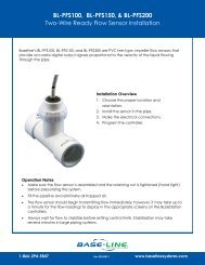 Two-Wire Ready Flow Sensor Installation Guide - Baseline Systems