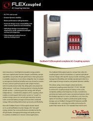 Download PDF Spec Sheet - OutBack Power Systems