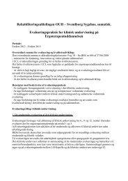 Beskrivelse af evalueringspraksis i den kliniske undervisning