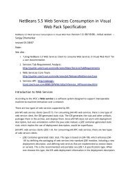 NetBeans 5.5 Web Services Consumption in Visual ... - NetBeans Wiki