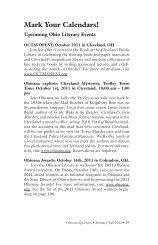 Ohioana Library: Mark Your Calendars! Upcoming Ohio Literary ...