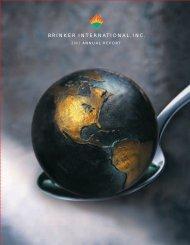 Brinker International 2001 Annual Report