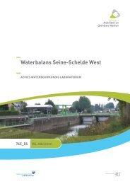 Waterbalans Seine-Schelde West - Waterbouwkundig Laboratorium