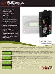 FlexNet DC - OutBack Power Technologies - OutBack Power Systems