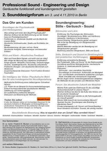 Sounddesignforum Berlin 2010