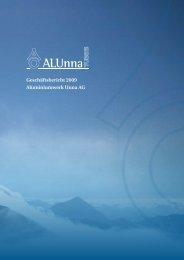 Finanzbericht (Geschäftsbericht 2009) - Aluminiumwerk Unna AG