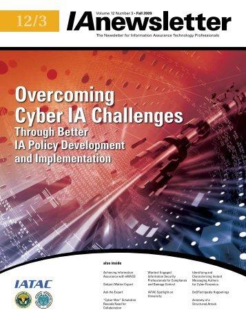 Overcoming Cyber IA Challenges - IAC - Defense Technical ...