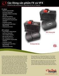 Các Dòng sản phẩm FX và VFX - OutBack Power Technologies