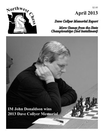 April 2013 - Northwest Chess!