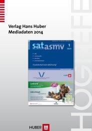 Verlag Hans Huber Tarif 2013 - anzeigenpreise.ch