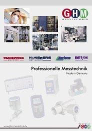 Professionelle Messtechnik - GHM-Gruppe