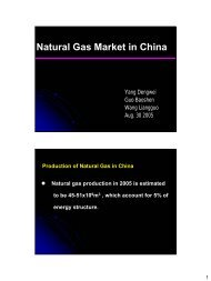 Natural Gas Market in China - CCOP