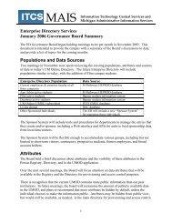 Enterprise Directory Services January 2006 Governance Board ...