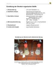 Ermittlung der Struktur organischer Stoffe