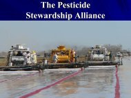 Bob Spencer, Idaho Department of Agriculture - The Pesticide ...