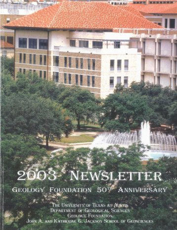 Geology Foundation 50th Anniversary - Jackson School of ...