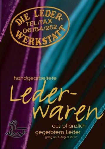 Katalog zum Download PDF 5,5 MB - Die Lederwerkstatt