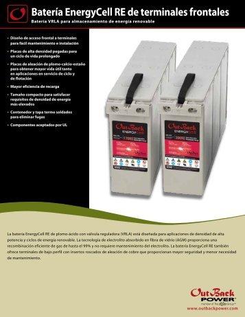 Batería EnergyCell RE de terminales frontales - OutBack Power ...