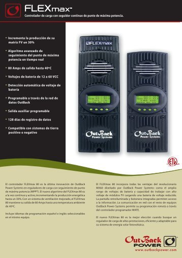 maxTM maxTM - OutBack Power Technologies