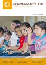 Ausgabe November 2013 - HMK - Hilfe für verfolgte Christen