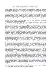 RELAZIONE DEI GIOCHI DELLA CHIMICA 2011 - DipCIA
