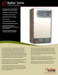 Radian Series Spec Sheet - English (251 KB PDF) - OutBack Power ...