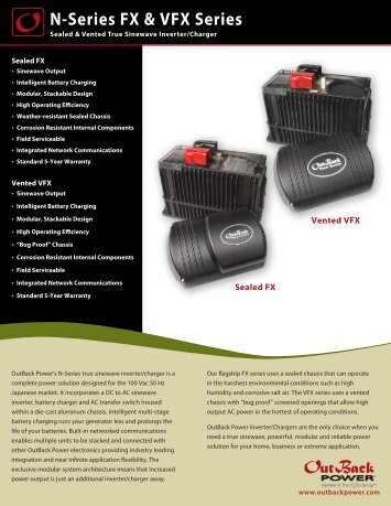 N Series_SpecSheet_02.2012.indd - OutBack Power Technologies