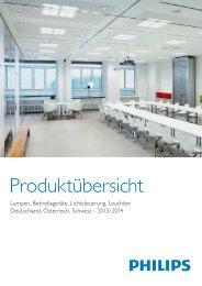 Produktübersicht Lampen, Vorschaltgeräte und Leuchten - Elevite