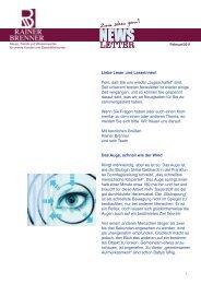 Newsletter Februar 2011 - Rainer Brenner