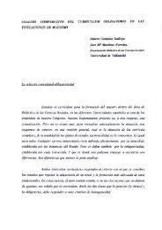 Análisis comparativo del currículum obligatorio en las titulaciones ...