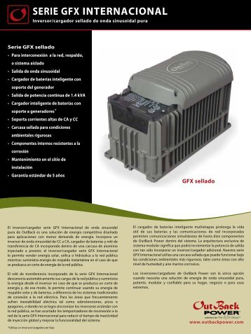 SERIE GFX INTERNACIONAL - OutBack Power Systems